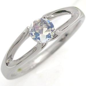 ロイヤルブルームーンストーン 婚約指輪 プラチナ エンゲージリング 一粒 リング