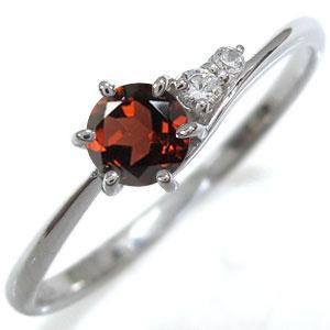 リング プラチナ 指輪 シンプル レディースリング ガーネット プレゼント