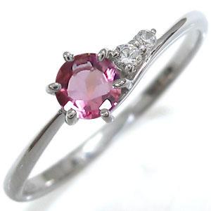 ピンクトルマリン リング シンプルリング K10 指輪