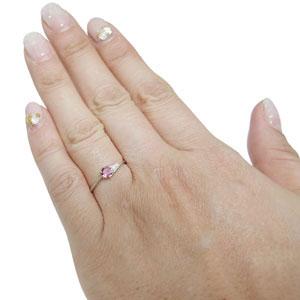 プラチナ 一粒 ピンクトルマリン エンゲージリング プレゼント エンゲージリング 婚約指輪vwnm0N8