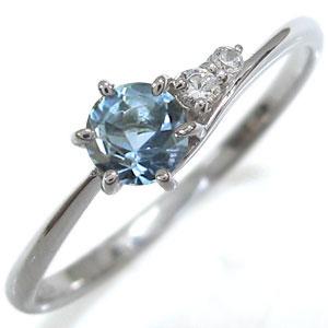 プラチナ 一粒 アクアマリンサンタマリア エンゲージリング プレゼント エンゲージリング 婚約指輪