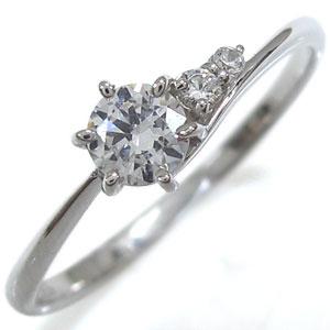 ダイヤモンドリング プレゼント 一粒 K18 シンプル 指輪