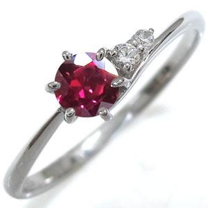 ルビーリング・プレゼント・一粒・K18・シンプル・指輪