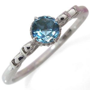 エンゲージリング エンゲージリング 唐草 ブルートパーズ 婚約指輪 一粒 プラチナ