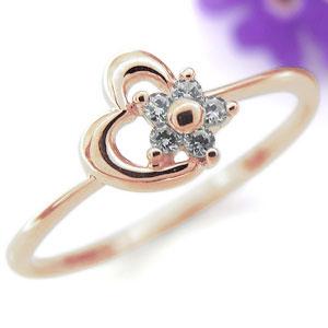 【10%OFFクーポン】5日23:59迄 ハートリング・ダイヤモンド・指輪・リング・ピンキーリング