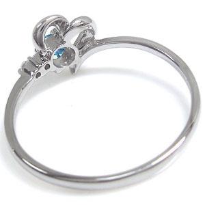 ハート・ピンキーリング・ブルートパーズ・K18・ピンキーリング・指輪Yfy7gb6