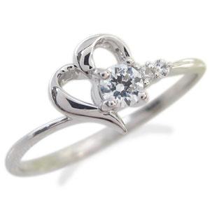 【10%OFF】4日20時~ ダイヤモンド・リング・プラチナ・ハート・リング・指輪
