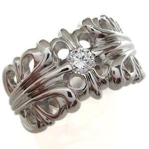 送料無料 メンズ プラチナ ダイヤモンド リング クロスリング・百合の紋章・4月誕生石・ダイヤモンド・プラチナ・リング・メンズ・指輪
