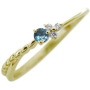 ブルートパーズ ファランジリング 18金 指輪 指輪 ピンキーリング, タックルアイランド:c2851c21 --- officewill.xsrv.jp