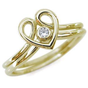 【10%OFF】4日20時~ ファランジリング・ハート・ダイヤモンド・セットリング・18金・指輪