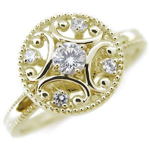 【10%OFF】4日20時~ ダイヤモンドリング・K18・アンティーク・ダイヤモンド・指輪