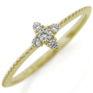 【10%OFF】4日20時~ 18金・クロス・ダイヤモンド・リング・ファランジリング・指輪