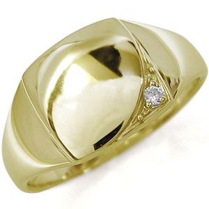 レディース・ダイヤモンド・印台・リング・ピンキーリング・K10 母の日 プレゼント