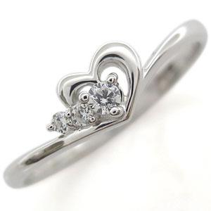 プラチナ・ダイヤモンド・リング・ハート・指輪