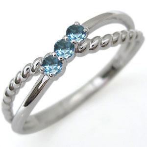 【10%OFF】4日20時~ ファランジリング ブルートパーズ リング プラチナ 指輪 ピンキーリング