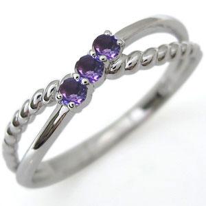 ファランジリング アメジスト リング プラチナ 指輪 ピンキーリング