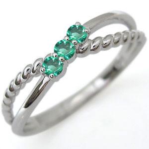3/20限定AM10時~ ファランジリング エメラルド リング プラチナ 指輪 ピンキーリング