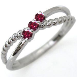ルビー ピンキーリング リング プラチナ 指輪 ファランジリング