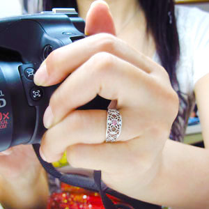ピンクトルマリン リング アラベスク 指輪 10金 唐草 リングvIfmYyb76g