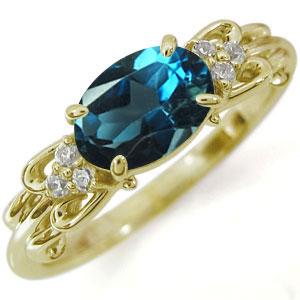 指輪・ロンドンブルートパーズ・K18・リング