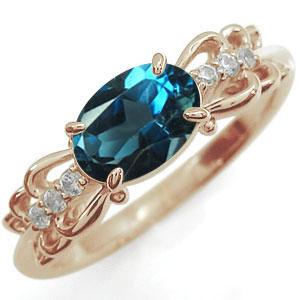 指輪 ロンドンブルートパーズ K18 リング