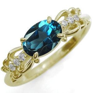 ロンドンブルートパーズ・リング・10金・指輪
