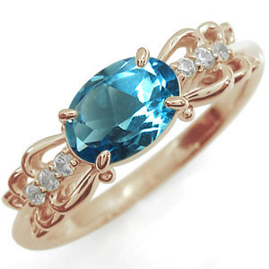 指輪 ブルートパーズ K18 リング