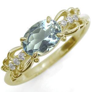 アクアマリン・リング・10金・指輪