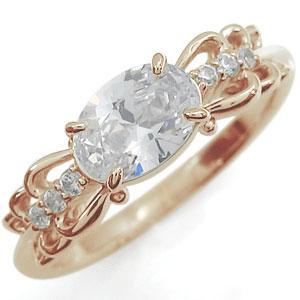 指輪 キュービックジルコニア K18 リング