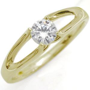 一粒 指輪 ダイヤモンド リング 18金 リング