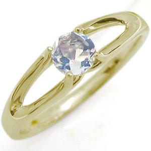 9/11 1:59迄一粒 婚約指輪 ロイヤルブルームーンストーン エンゲージリング 18金 リング