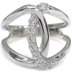 ダイヤモンドリング 指輪 無限 10金 インフィニティ