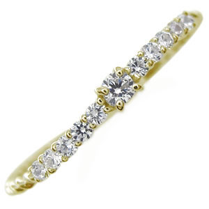 【10%OFF】4日20時~ ダイヤモンド・リング・10金・ピンキーリング・指輪・ファランジリング