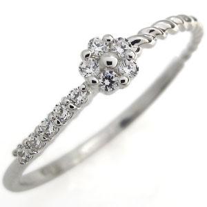 プラチナ ダイヤモンドリング フラワー 指輪 結婚10周年