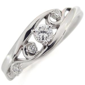 プラチナ ダイヤモンド リング 唐草 指輪 アラベスク リング