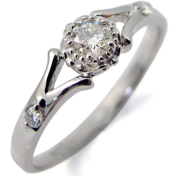 婚約指輪・k18・リング・ダイヤモンド・エンゲージリング