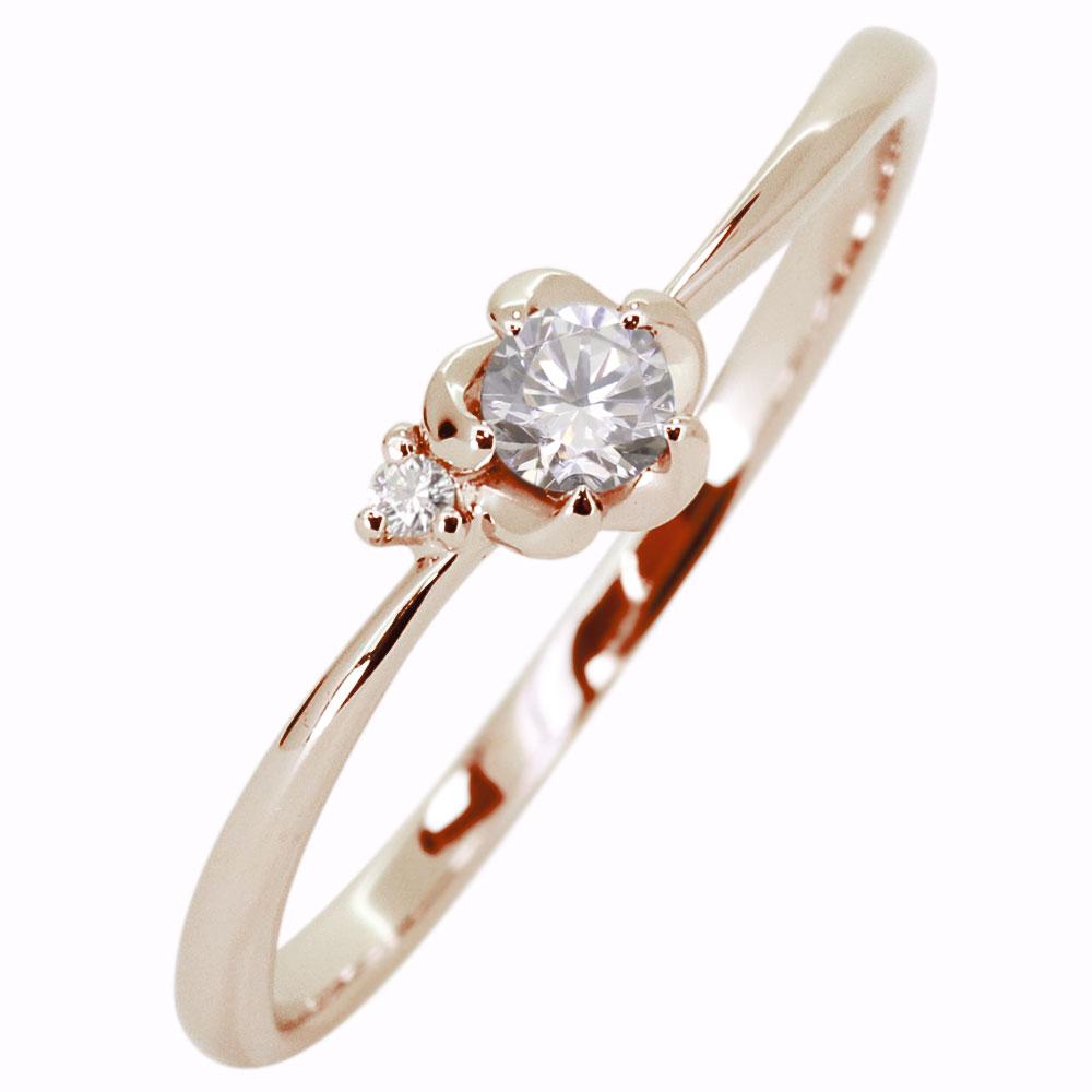9/11 1:59迄ダイヤモンド 花 フラワー 指輪 ピンキーリング