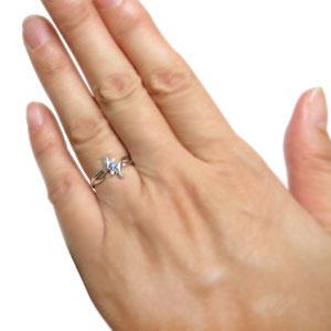 プラチナ ピンキーリング タンザナイト ピンキーリング クロス ピンキーリング 指輪uKcF13lTJ