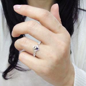 婚約指輪 アラベスク ハート 華奢 アメジスト 18金 エンゲージリング