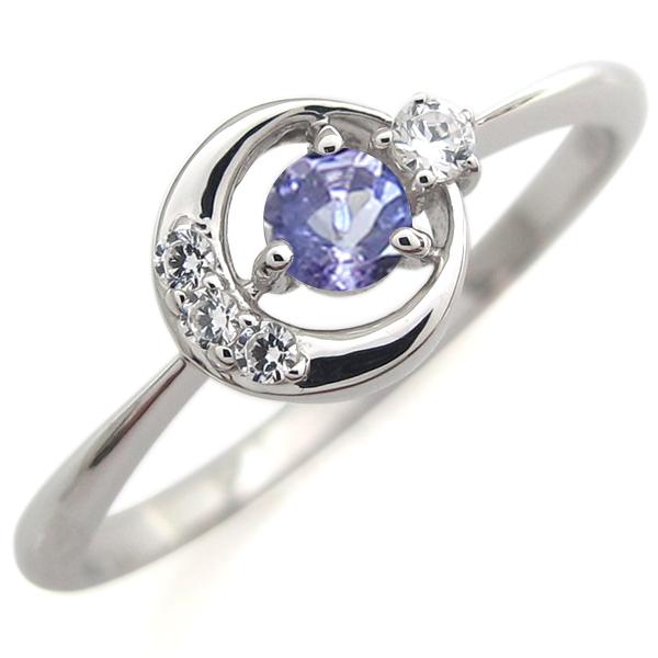 指輪 レディース おしゃれ プラチナ タンザナイト エンゲージリング 月モチーフ 婚約人気 リング 母の日 プレゼント