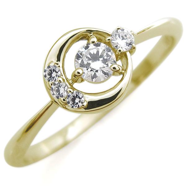 9/11 1:59迄月モチーフ エンゲージリング ダイヤモンド K18 婚約指輪 ダイヤモンドエンゲージリング