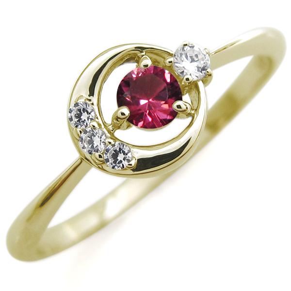 9/11 1:59迄月モチーフ エンゲージリング ルビー K18 婚約指輪 ルビーリング