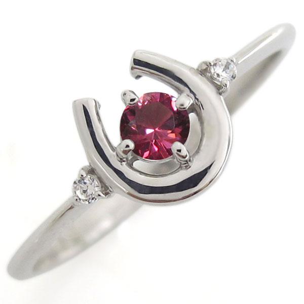 プラチナ ホースシュー リング ルビー 馬蹄 指輪
