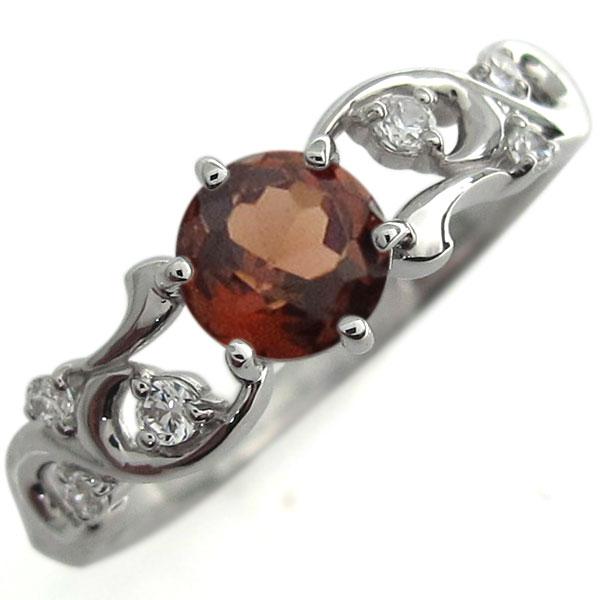 アラベスク エンゲージリング ガーネット 婚約指輪 プラチナ リング