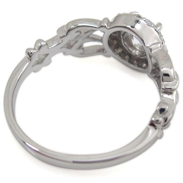 鑑定書・プラチナ・ダイヤモンドリング・SIクラス・アンティーク・指輪wP8n0kXO