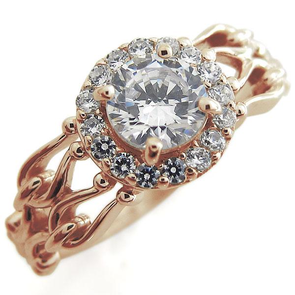【10%OFFクーポン】5日23:59迄 アンティーク リング ダイヤモンド クラシカルリング 取り巻き 指輪