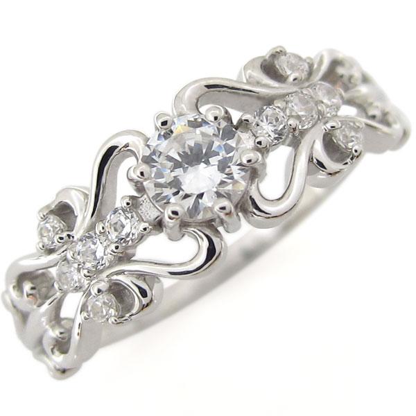 5/15限定 プラチナ ダイヤモンド リング アンティーク ハート リング 指輪
