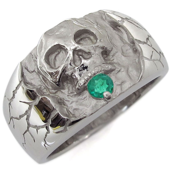 魅了 プラチナ・エメラルド・ドクロリング・骸骨・リング・指輪, vie jewelry cf118eb8