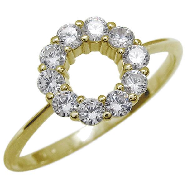 エタニティリング ダイヤモンド 指輪 サークル リング K18