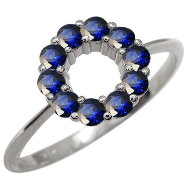 プラチナ エタニティサファイア リング 指輪 サークル